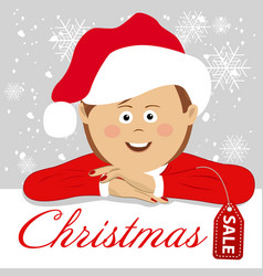 young woman wearing santa claus costume vector image vector image