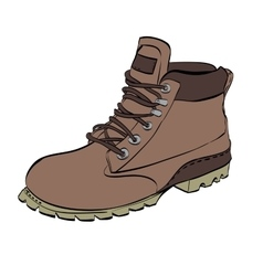 Boots for men Hiking on a white isolated vector image