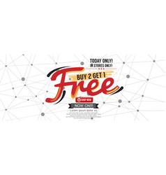 Buy 2 get 1 free 5000x1997 pixel banner vector