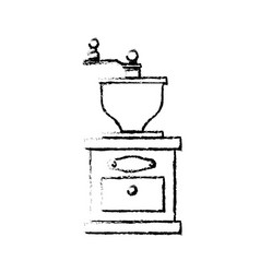 Coffee grinder equipment vector