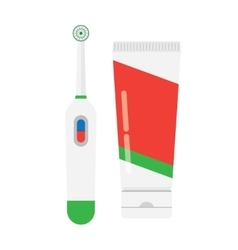 Electric Toothbrush isolated vector image vector image