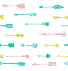 hand drawn arrows in retro style vector image