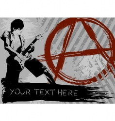 punk rock background vector image