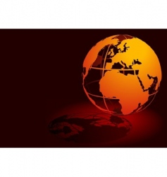3d globe red vector image vector image