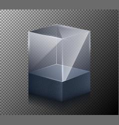 a realistic transparent vector image