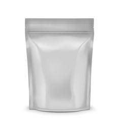 Blank coffee sachet vector image