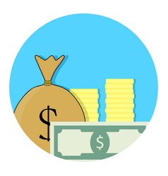 capital money icon vector image vector image