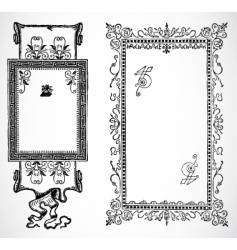 french frames vector image vector image