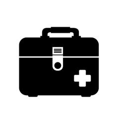icon first aid kit medical isolated vector image