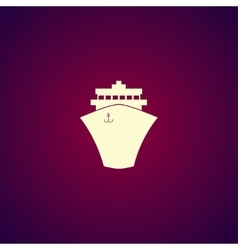 Ship icon Flat design style vector image vector image