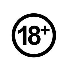 18 icon vector image vector image