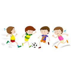 Boys playing different sport vector