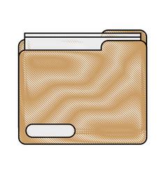 Color blurred stripe image documents folder vector