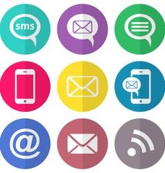 Communication flat icons vector image