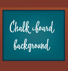 light blue school chalkboard with frame template vector image vector image