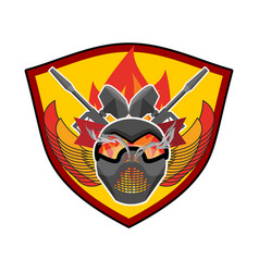 paintball logo military emblem army sign helmet vector image