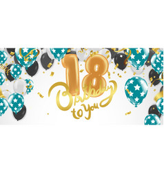 18th birthday celebration with balloons vector