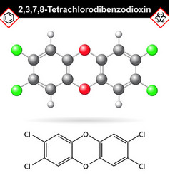 2378- Dibenzodioxin - widespread environmental vector image