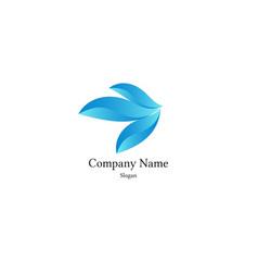 abstract blue logo vector image