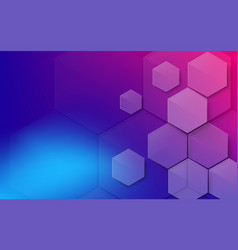 abstract colorful hexagons background technology vector image
