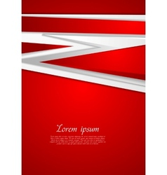 Abstract modern red background vector