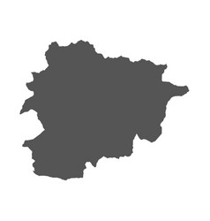 andorra map black icon on white background vector image