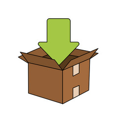 arrow box vector image