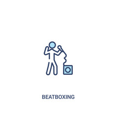 Beatboxing concept 2 colored icon simple line vector