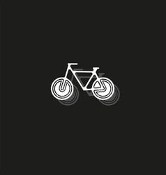 bicycle icon bicycle - sport symbol vector image