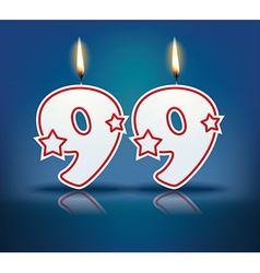 Birthday candle number 99 vector