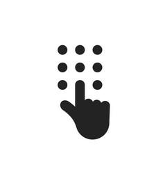 black hand like phone dial vector image