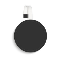 blank of circle sale wobbler in black mock up vector image