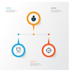 Board icons set collection of personal character vector