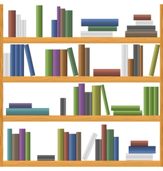 Bookshelves vector