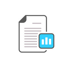 business document file graph page icon vector image