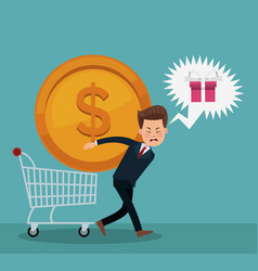 businessman and shopping vector image
