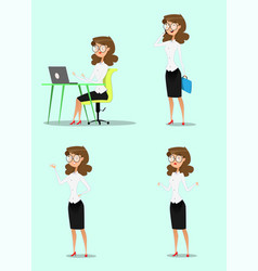 businesswoman and businessman vector image