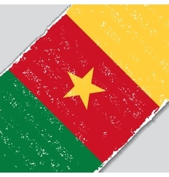 Cameroon grunge flag vector