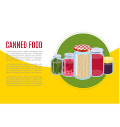 canned food goods illusration banner vector image