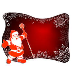 christmas design with santa claus white frame vector image