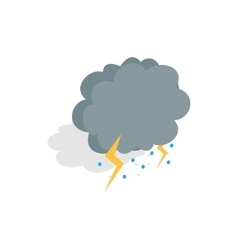 Cloud lightning and hail icon isometric 3d style vector