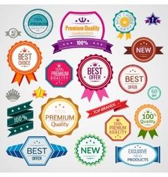 Color sale labels set vector image