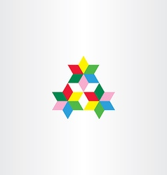 Colorful triangle geometric design element vector