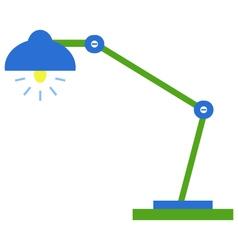 Desk lamp on white background vector image