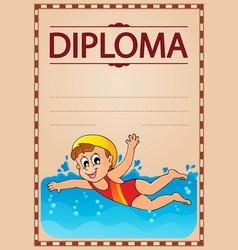 Diploma theme image 6 vector