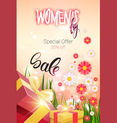 Discount greeting card international women day vector