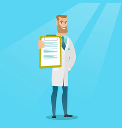 Doctor with a clipboard vector