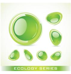 eco series vector image