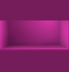 Empty studio room with shadow background vector