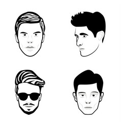 face sketch icons vector image